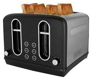 Black + Decker BXTO0401IN 2300-Watt 4 Slice Pop-up Toaster