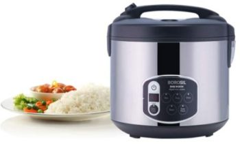Borosil BRC18LDSS11 1.8-Liters Electric Rice Cooker and Steamer
