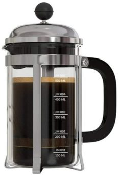 InstaCuppa French Press Coffee Maker with 4 Part Superior Filtration 600 ML, Stainless Steel