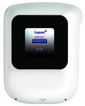 Top 10 water purifier in india 2021, Livpure Glo Touch RO+UV+UF+Taste Enhancer Water Purifier