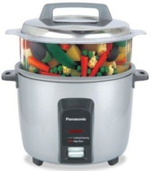 Panasonic SR-Y18FHS 660-Watt Automatic Electric Cooker 4.4 Litre with Non Stick Cooking Pan and Steamer, Best Rice Cooker