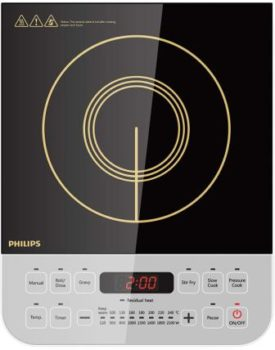 Phillips HD4938-2100-Watt Induction Cooktop