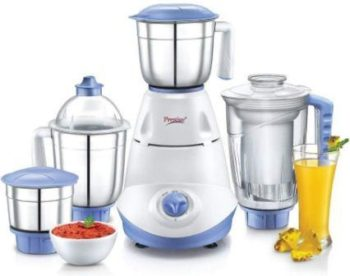 Prestige Iris 750W Mixer Grinder with 3 Stainless Steel Jar + Juice Jar
