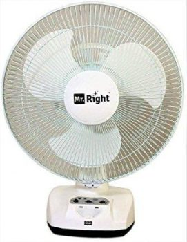 Mr. Right 3 Blade Oscillating Rechargeable Table Fan