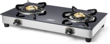 Eveready TGC2B Glass Cooktop 2 Burner Gas Stove, Best Gas Stove in India 2021