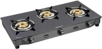 Sunflame GT Pride Glass Cooktop Best 3 Burner Gas Stove