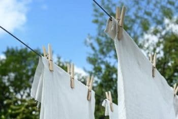 Clothes are Drying after washing in Washing Mahine