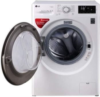 LG 6 kg Inverter Fully-Automatic Front Loading Washing Machine (FHT1006SNW.ABWPEIL with Inbuilt Heater), Best LG Washing Machine 2021