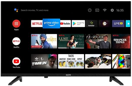 Sanyo 32-inches Kaizen Series HD Ready Smart Certified Android IPS Best LED Television in India (XT-32A170H), Best Smart TV in India 2021