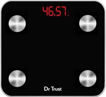 Dr Trust (Usa) Digital Smart Connect Rechargeable Body Composition Monitor Fat Analyzer Weighing Scale in India