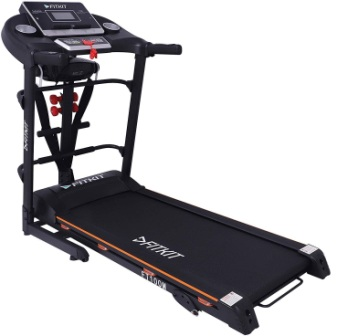 Fitkit FT100 Series Motorized Treadmill with Manual Inclination