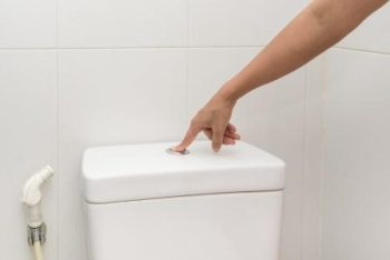 Flushing your toilets
